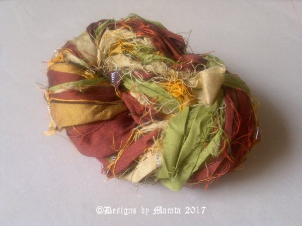 Fall Inspired Silk Sari Ribbon