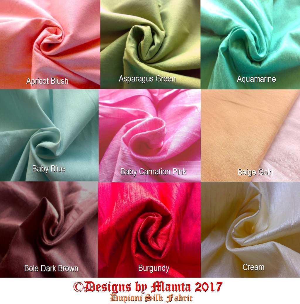 Fat Quarter Dupioni Silk Fabric Designer Fair Trade Indian Fabrics