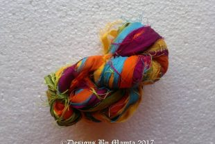 Field Of Rananculus Sari Ribbon Yarn