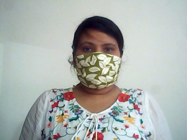 Floral Green Face Mask