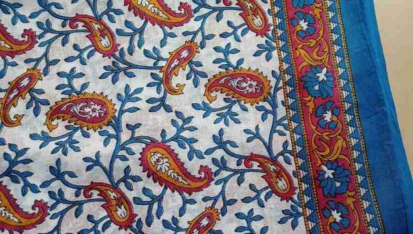 Floral Print Indian Fabric