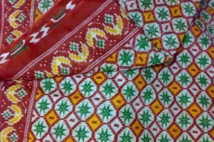 Floral Print Sari Fabric