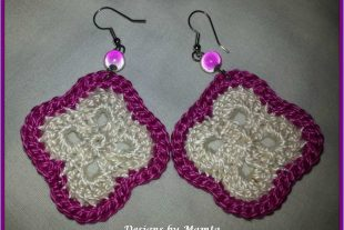 Flower Granny Crochet Earrings Pattern