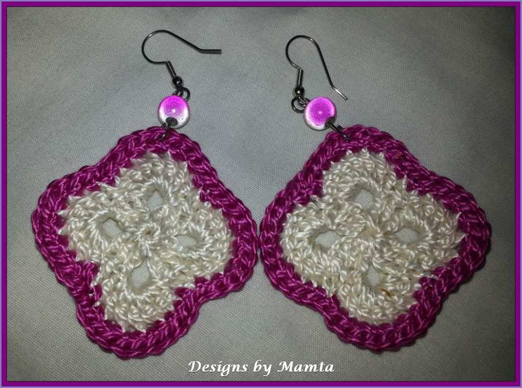 Flower Granny Crochet Earrings Pattern Unique Crochet Patterns