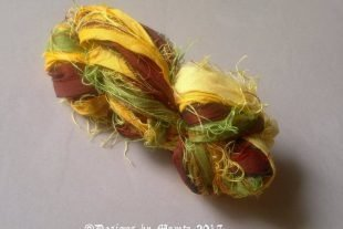 Forsythia Flower Sari Yarn Ribbon