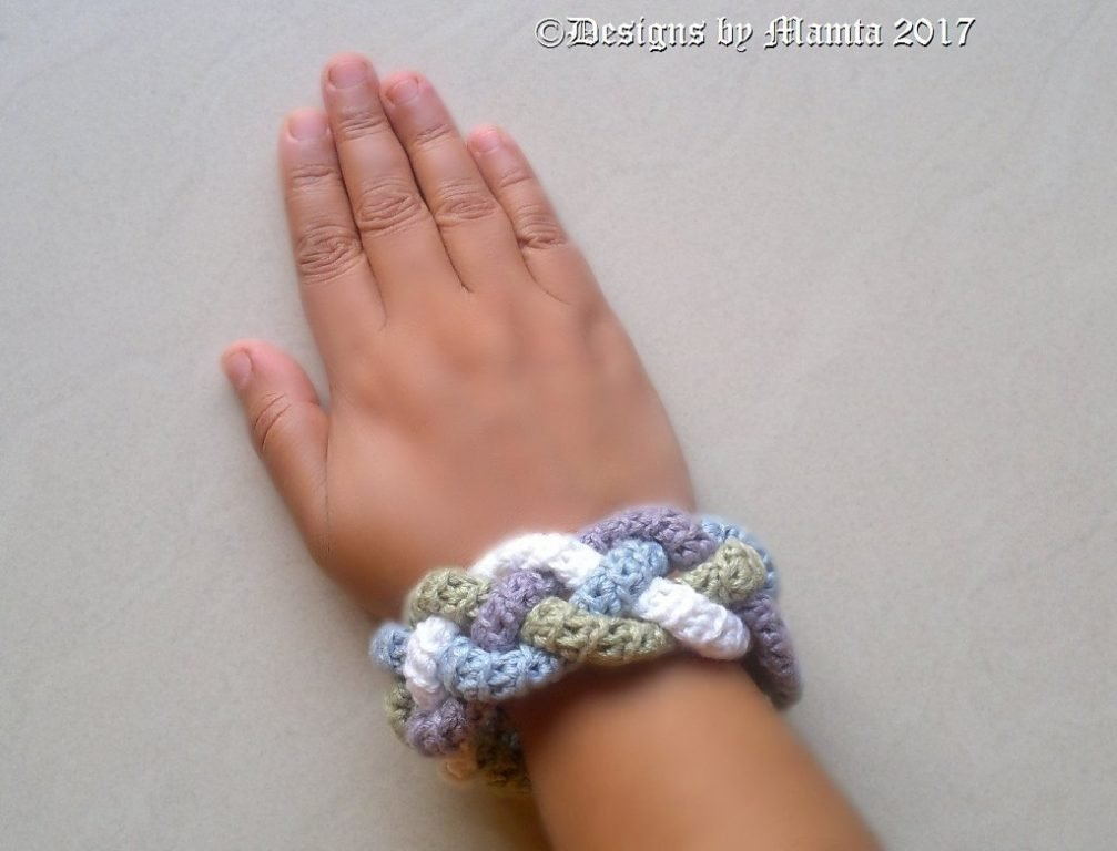 Four Braided Cuff Crochet Pattern | Unique Jewelry Patterns For Women