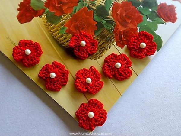 Four Petals Crochet Flower Pattern