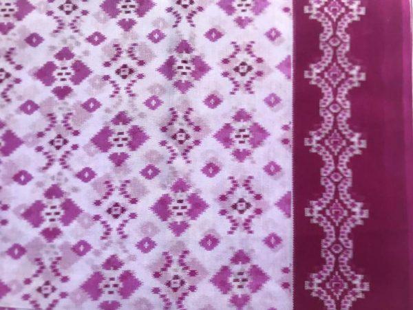 Fuchsia Pink Muslin Saree Fabric