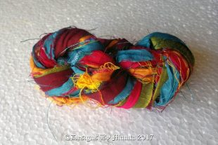 Gerbera Daisies Silk Ribbon Yarn