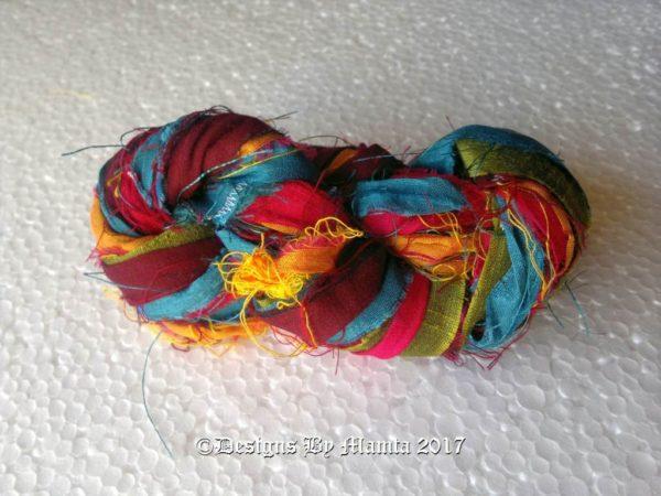 Gerbera Daisies Silk Ribbon Yarn
