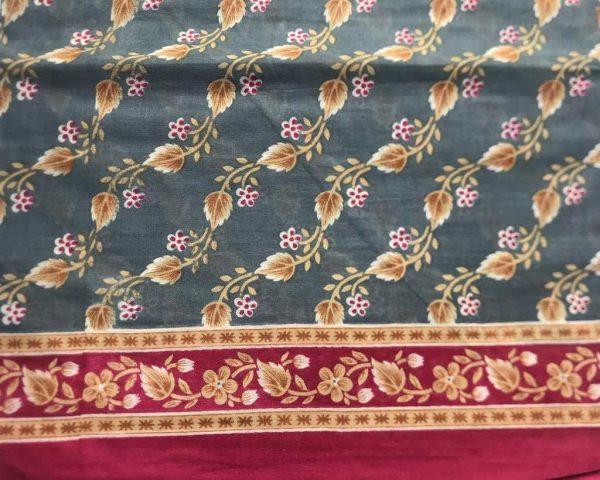 Gray Brown Indian Sari Fabric