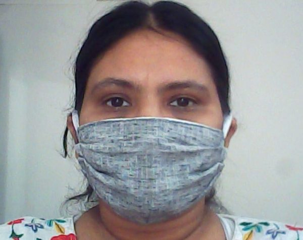 Gray Cotton Face Mask