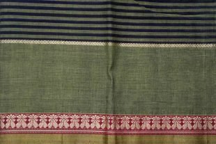 Green Blue Indian Cotton Sari Fabric