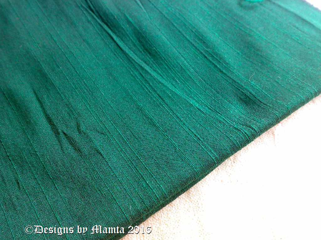 holly green silk dupioni fabric by the yard unique