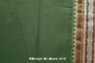 Green Ilkal Indian Handloom Sari Fabric