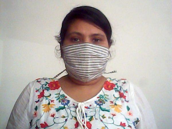 Grey Fabric Face Mask