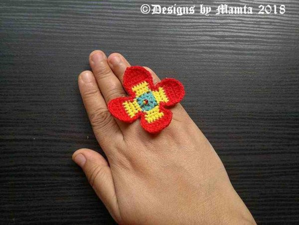 Handmade Crocheted Ring