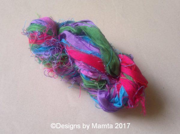 Hydrangea Sari Yarn Ribbon