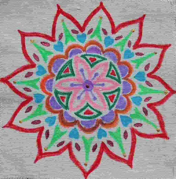 I Heart Paris Mandala Quilting Block