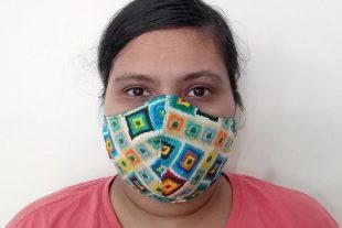 Ikat Print Face Mask