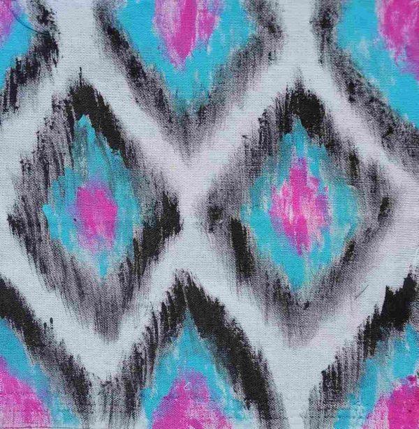 Ikat Print Quilt Block Fabric