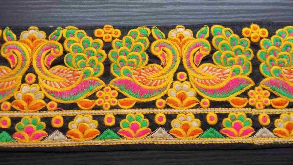 Indian Peacock Decorative Trim