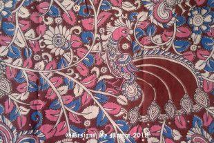 Indian Peacock Handmade Fabric