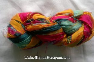 Indian Rangoli Recycled Sari Ribbon Yarn