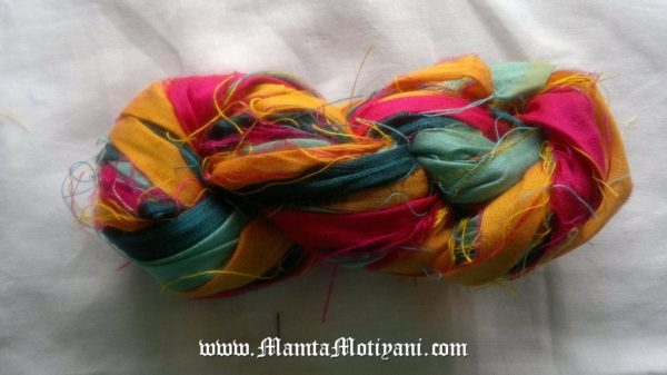 Indian Rangoli Recycled Sari Ribbon Yarn