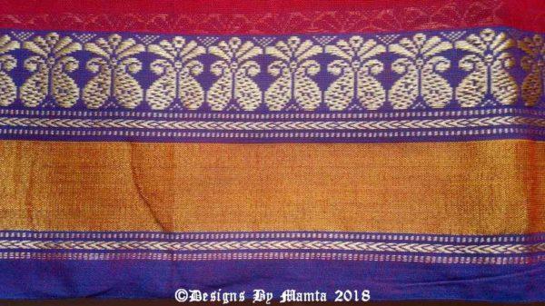 Indian Saree Fabric With Border