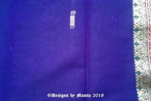 Indigo Purple Indian Saree Fabric
