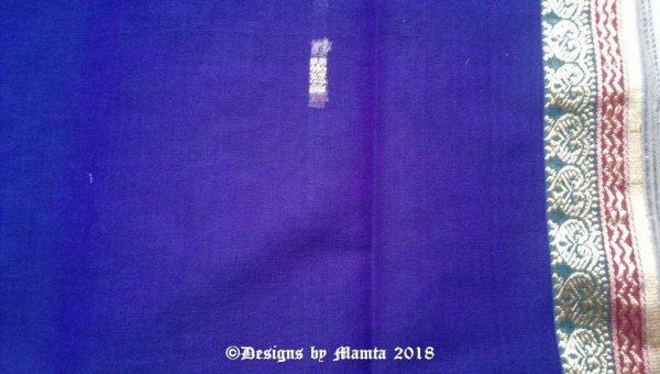 Indigo Purple Indian Saree Fabric