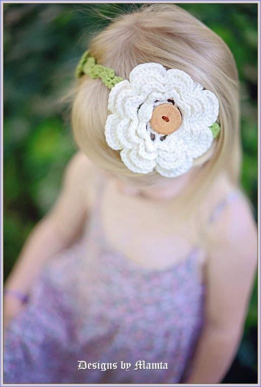 Irish Rose Crochet Headband Pattern For Girls Women By Mamta Motiyani
