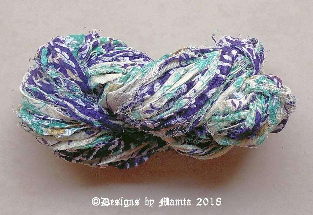JAL Cotton Sari Ribbon Yarn   22 Yards