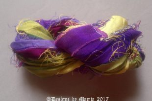 Johnny Jump Up Viola Sari Yarn Ribbon