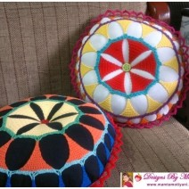 Lace Mandala Crochet Pillow Pattern