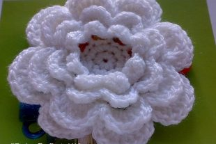 Large Crochet Rose Flower
