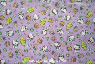 Lavender Hello Kitty Nursery Fabric