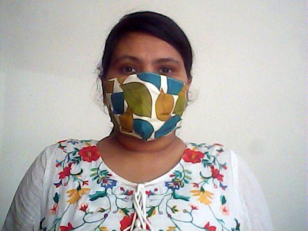 Leaf Print Face Mask