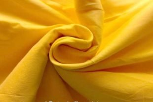 Lemon Yellow Indian Silk Fabric