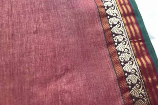 Light Brown Sari Fabric