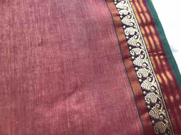 Light Brown Sari Fabric
