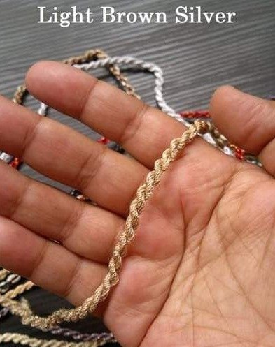Light Brown Silver Rope