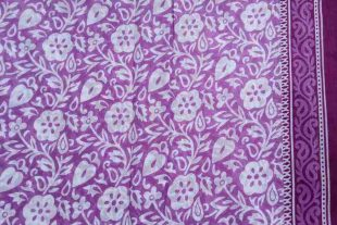 Light Purple Floral Saree Fabric