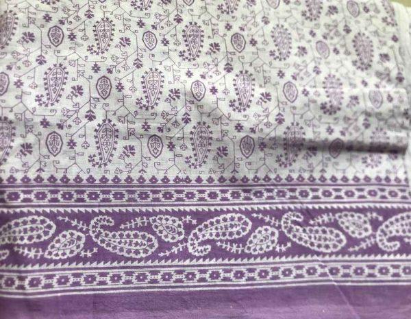 Light Purple Sari Fabric