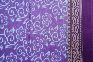 Lilac Purple Sari Fabric