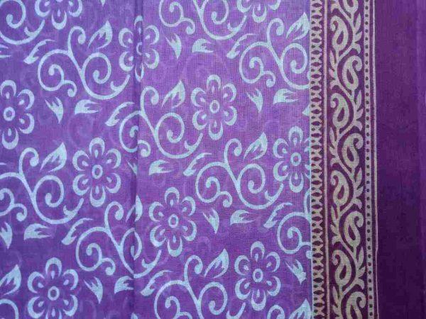 Lilac Purple Sari Fabric