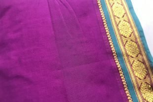 Magenta Purple Ilkal Sari Fabric