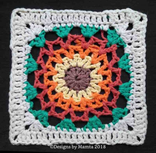 Marigold Afghan Square Crochet Pattern