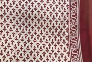 Maroon Red Paisley Saree Fabric